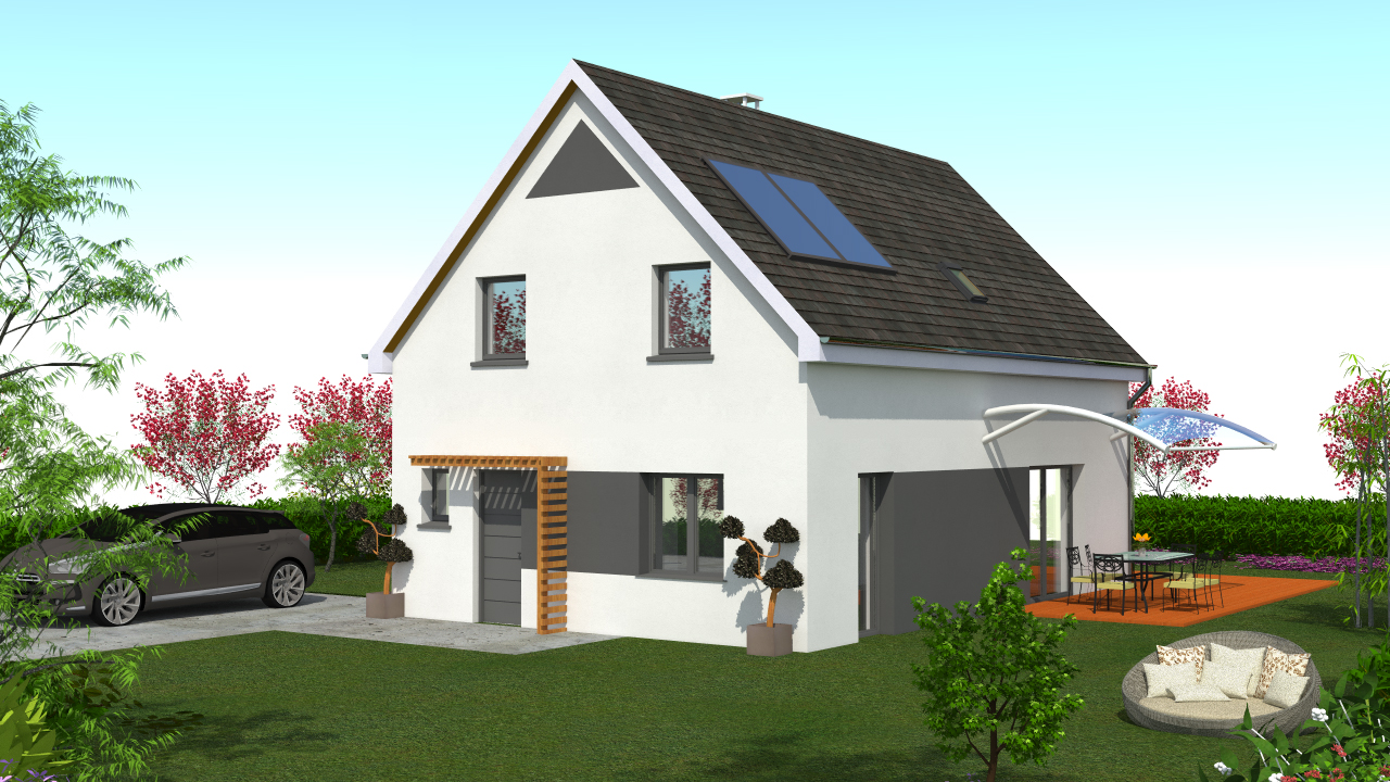 Constructeur maison contemporaine alsace for Constructeur maison contemporaine
