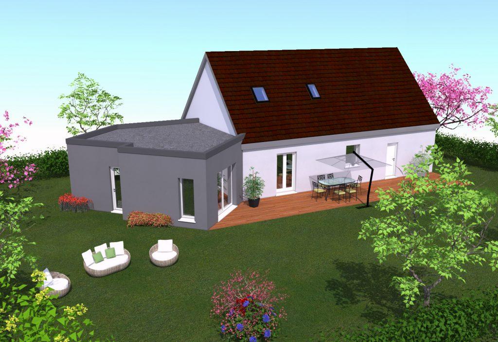 extension Bois d'une maison individuelle
